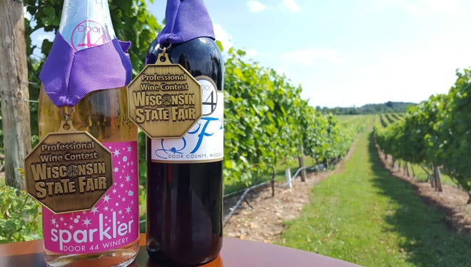 For the third year in a row, Door 44 Winery has won Best Wisconsin Sparkling Wine and Best Wisconsin Red Wine. Door 44 Winery also was awarded Best Wisconsin Wine for the Sparkler.
