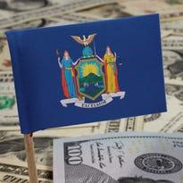 Illustration of money in New York