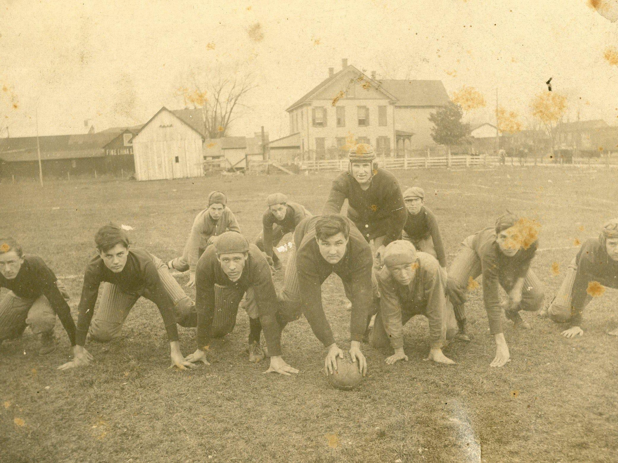 The Georgetown football team in 1912.