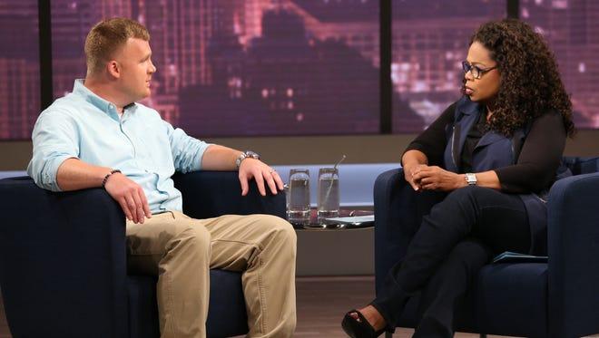 Matt Sandusky speaks with Oprah Winfrey.