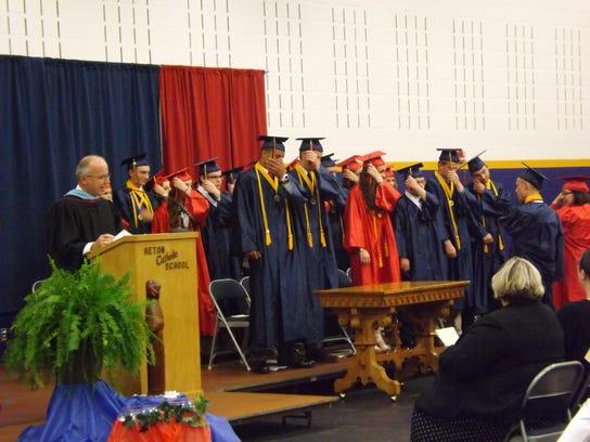 Seton Catholic High School graduates turn their tassels