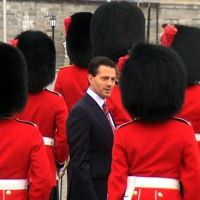 Enrique Peña Nieto visita Canadá.