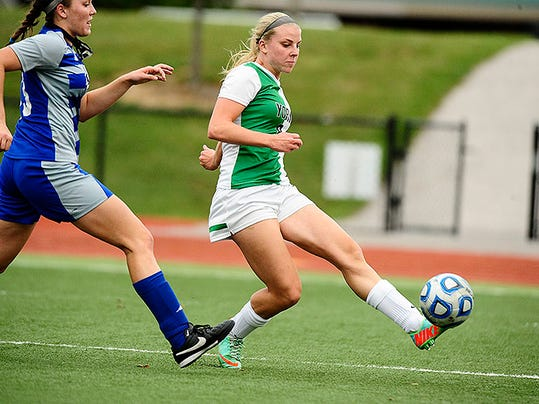 Dover High School graduate Maxine Herman is tied for the team lead in goals scored at York College with four.