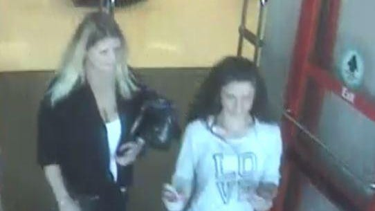 Des Moines Police are looking for these two female suspects in a credit card fraud case.