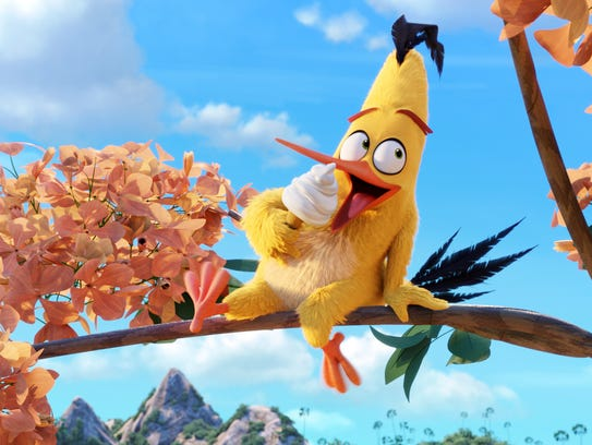 """Chuck (Josh Gad) is a speedy sort in """"The Angry Birds"""