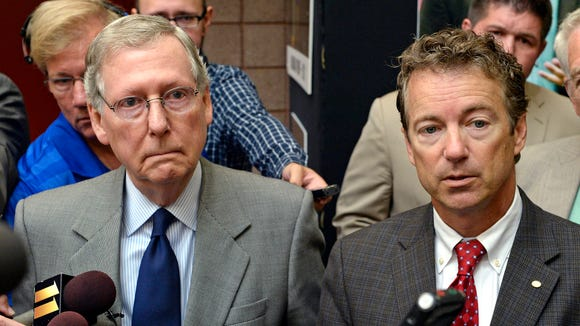 Sens. Mitch McConnell and Rand Paul