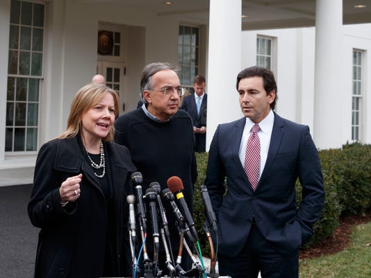 Mark Fields, Mary Barra, Sergio Marchionne
