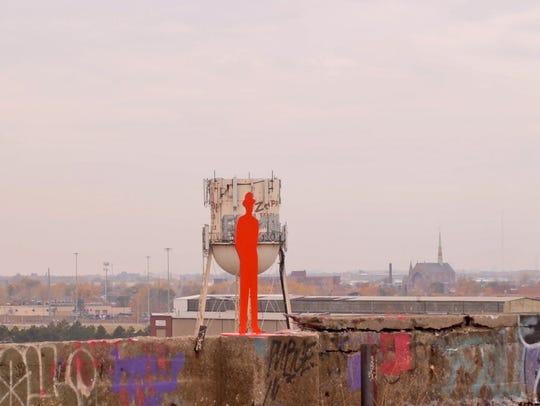 "John Sauve's ""Man in the City"" art installation featured"