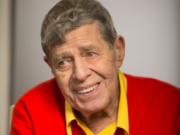 Jerry Lewis during an interview in Beverly Hills on