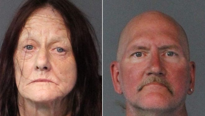 Jan Murray, 61 (right), and Richard Kirkbride, 56 (left), were arrested after a 10-month Reno Police investigation.