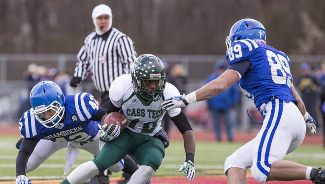 """""""He wanted to do whatever it took to be a great athlete,"""" Cass Tech coach Thomas Wilcher said of Ke'Von Sardin."""