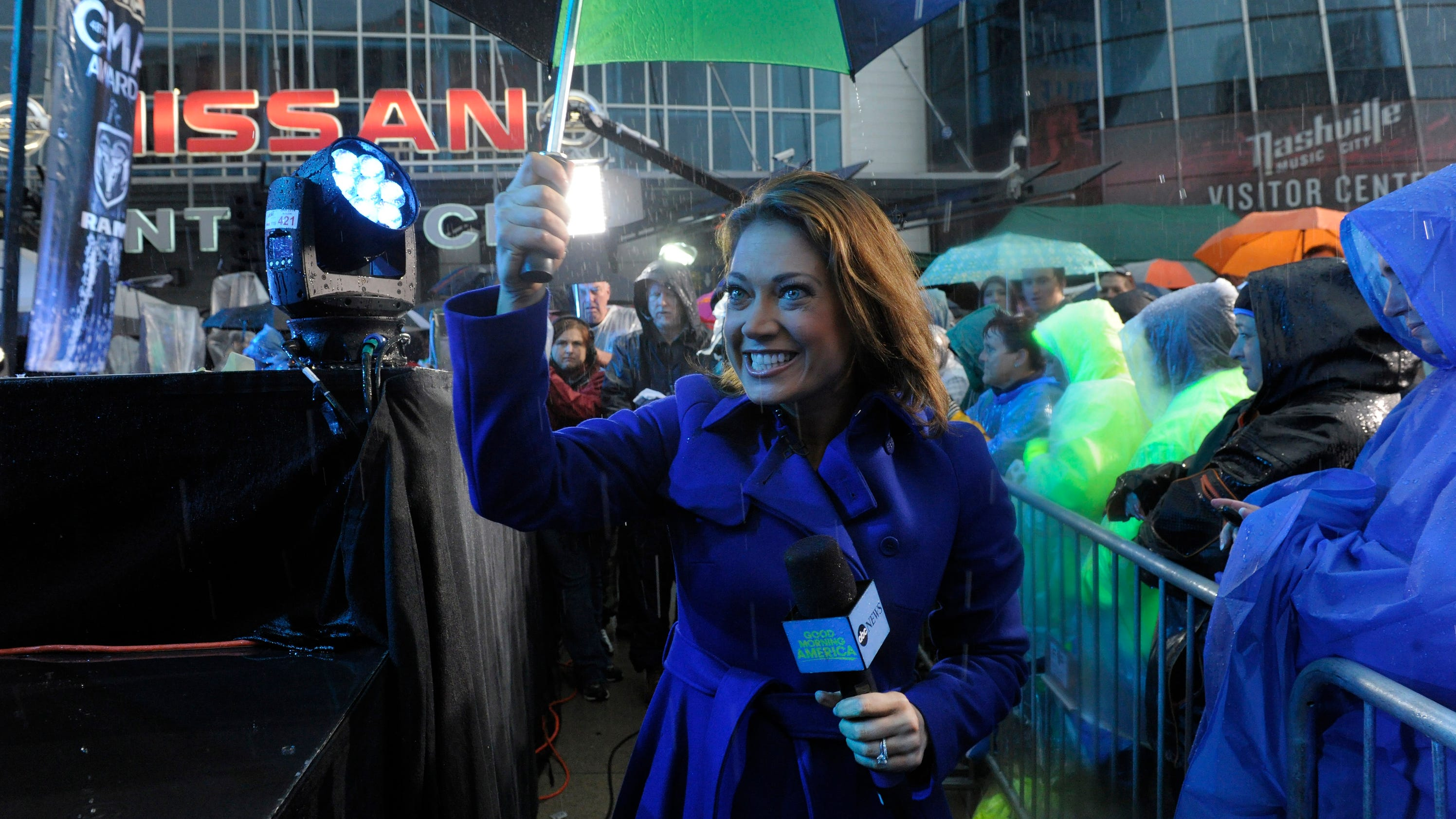 Good Morning America View Your Deal : Abc s ginger zee storm chases way to nashville cma awards