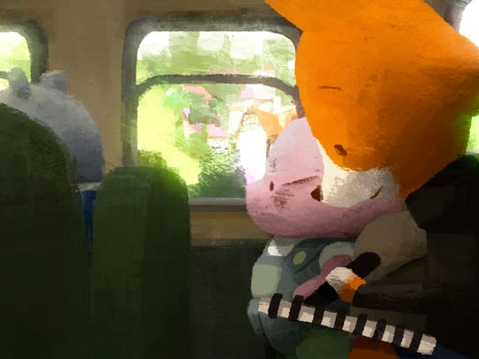 "A still from the Oscar-nominated animated short film, ""The Dam Keeper."""