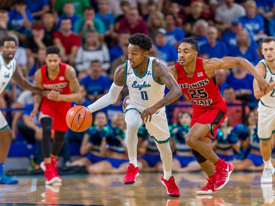 FGCU senior guard Brandon Goodwin and his Eagles teammates look to again pick up steam at Middle Tennessee State on Tuesday night after Saturday's surprising 83-80 last second loss at Bowling Green.