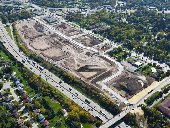 Aerial view of the 84South project site along Layton