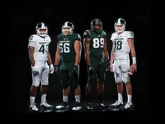 michigan state football uniforms