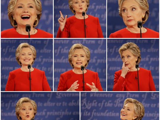 """NMSU professor Tim Ketelaar on Hillary Clinton's facial expressions Monday during the presidential debate: """"We saw more positive emotion in Hillary Clinton's face than we've seen before. She smiled a little bit more than we normally see her smile."""""""