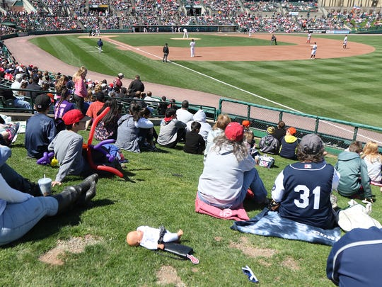 Opening Day for the Rochester Red Wings was a sunny