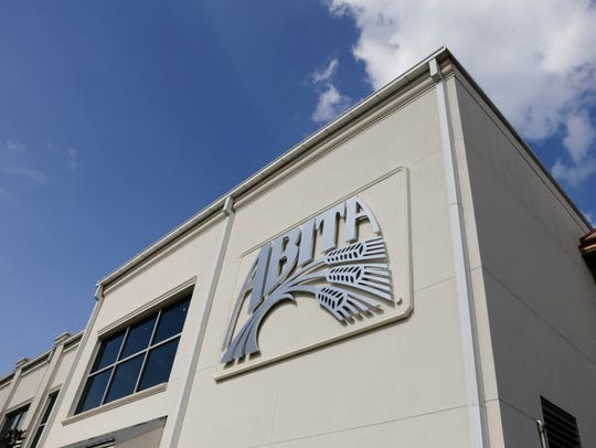 The facade of the Abita Brewing Company, in Abita Springs