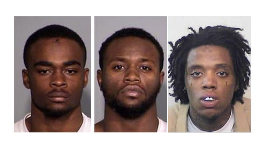 Larry Taylor (left) and Jalen Watson (center) were arrested in connection to the Amanda Blackburn murder. Diano Gordon (right) is accused in an earlier burglary. Photos provided by the Indiana Department of Corrections and Indianapolis Metropolitan Police Department.