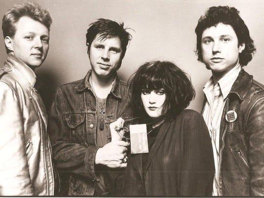 X in the early days, from left: guitarist Billy Zoom, bassist-vocalist John Doe, vocalist Exene Cervanka and drummer DJ Bonebrake.