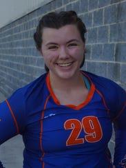 Grace Christian volleyball player Danielle Hagenseker