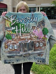 Bedazzled jackets like this were made by children in