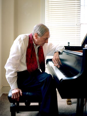 "William Eggleston at the piano. His debut album, ""Musik"" is out this week."