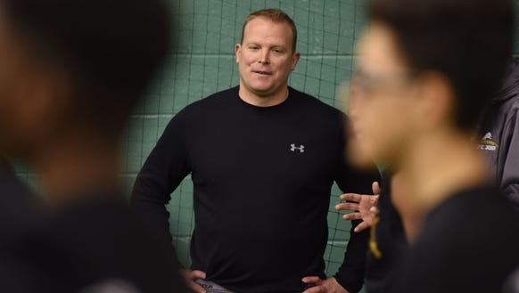 "Paramus Catholic coach Dan Sabella at the   ""Gamechangers"""