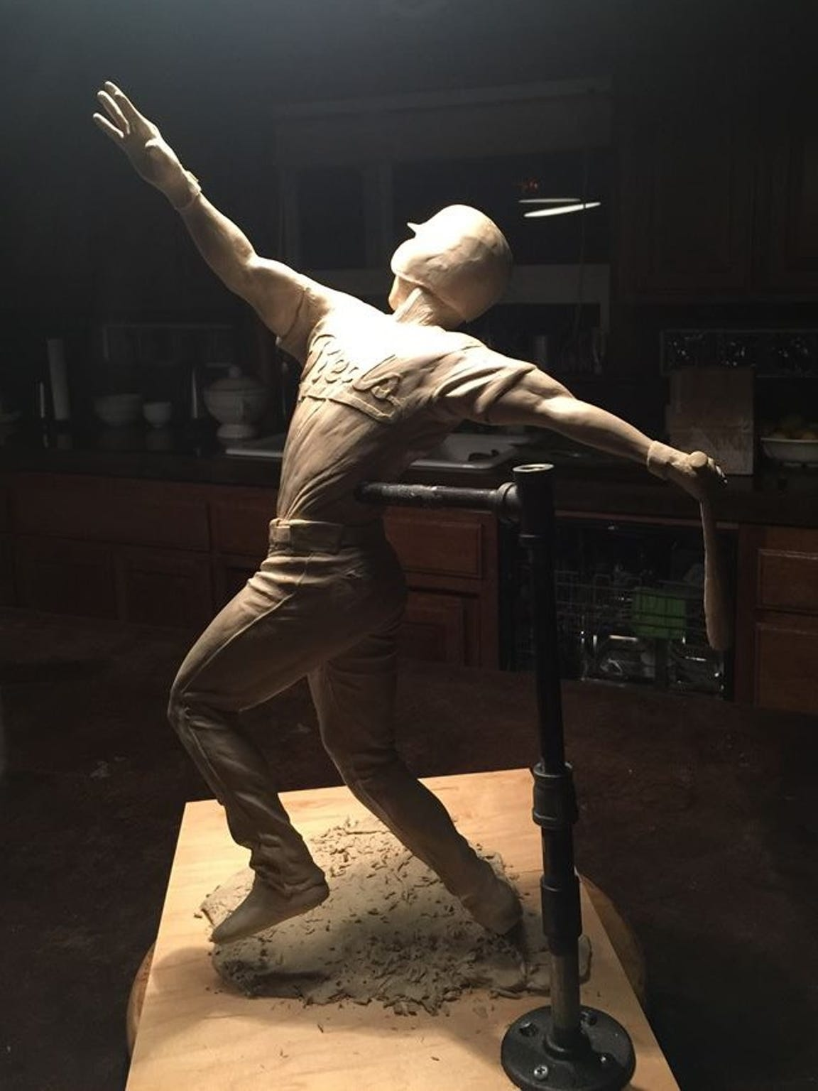 A clay sculpture to be cast in bronze by Lorenzen's