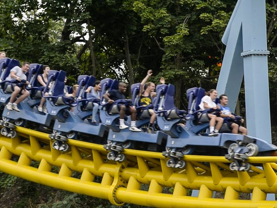Skyrush is the tallest and fastest roller coaster at
