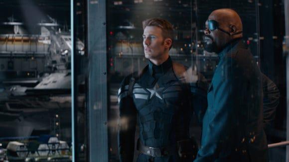 Cap (Chris Evans) and Nick Fury
