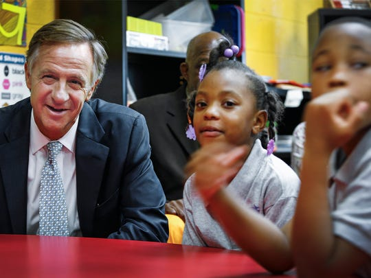 Gov. Bill Haslam joins a class at Aspire Coleman Elementary,