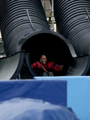 A 30-foot slide will carry festivalgoers through a