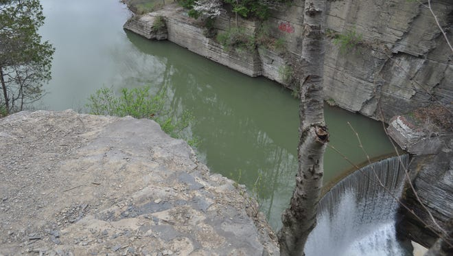 Ithaca's Second Dam is a popular, but illegal, cliff diving and swimming spot during summer months in Ithaca.