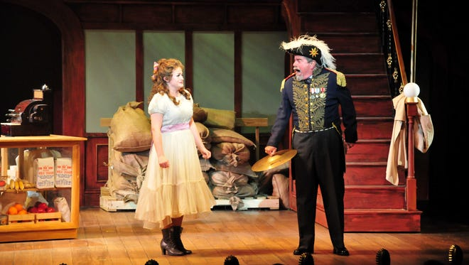 Tony Award winner Gary Beach brought the house down with his performance as Horace Vandergelder in the Maltz Jupiter Theatre's 2012 production of Hello, Dolly! Here he is, at  right, with Kara Curtis as Ermengarde.