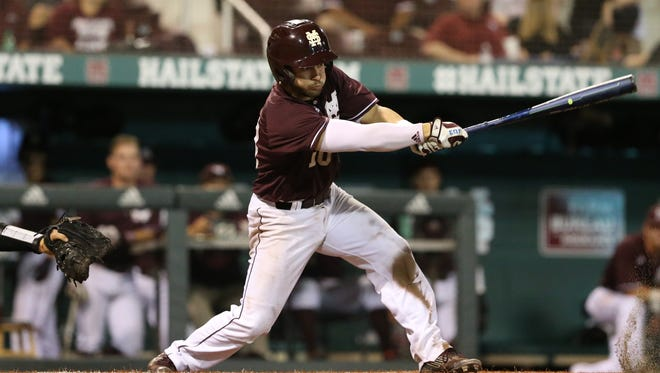 Sophomore Ryan Gridley helped Mississippi State to a 5-1 win against Arkansas with a pair of doubles.
