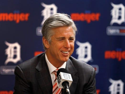 Detroit Tigers general manager Dave Dombrowski speaks