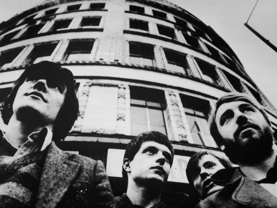 Joy Division (from left, Stephen Morris, Ian Curtis,
