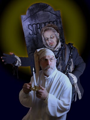 "Promotional picture of the Jackson Theatre Guild's characters, Ebenezer Scrooge and Jacob Marley in their past production of ""A Christmas Carol: Scrooge."" Some of the same characters will return in this weekend's performances of ""Jacob Marley's Christmas Carol."""