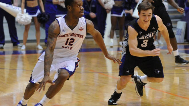 Northwestern State junior point guard Jalan West (12) was selected to the Southland Conference's preseason all-conference first team.