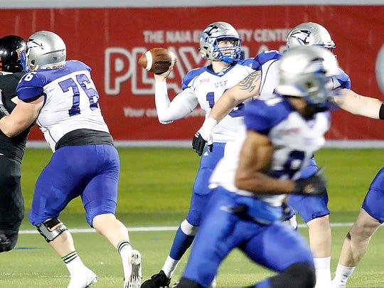 Quarterback Nick Ferrer, who played at Westfield High School, has been one of the country's best in NAIA for the University of Saint Francis.