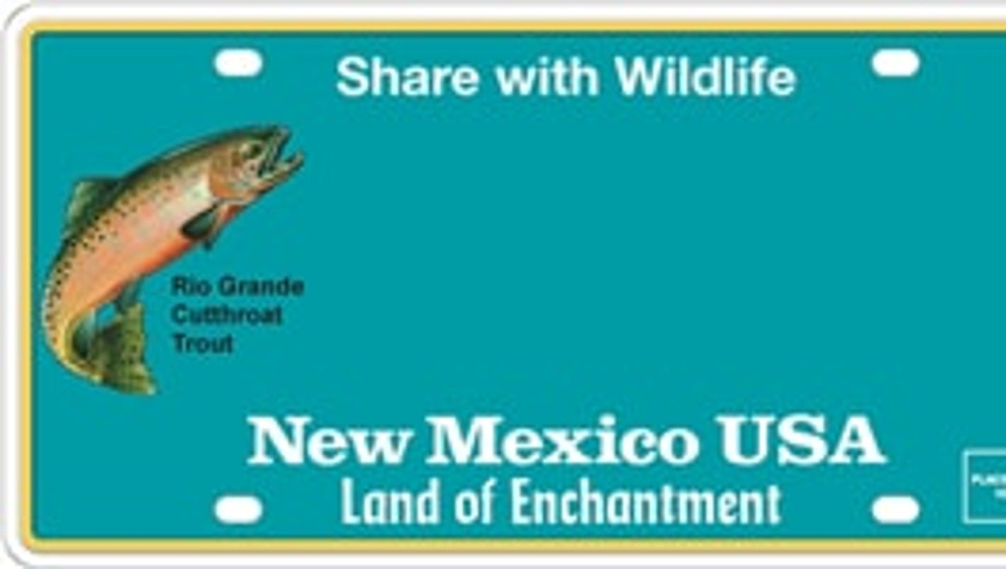 New license plate to feature new mexico state fish for New mexico state fish