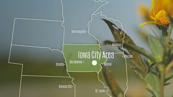 An image from a video from the Iowa City/Coralville Area Convention and Visitors Bureau.