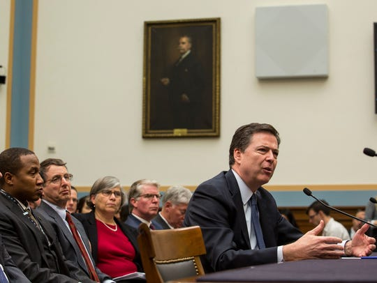 FBI Director James Comey testifies during a House Judiciary