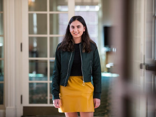 Tower Hill School senior Zara Ali stands for a portrait