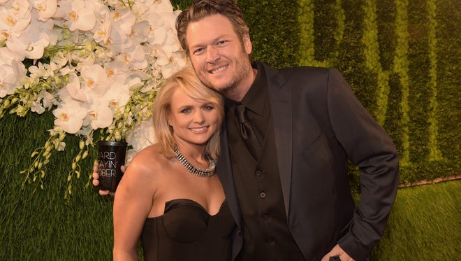 Singers Miranda Lambert and Blake Shelton attend the BMI 2014 Country Awards at BMI on November 3, 2014 in Nashville. The couple announced their divorce Monday after four years of marriage.
