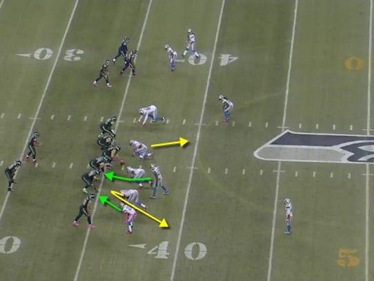 Lions' zone blitz on Caraun Reid's 27-yard fumble return