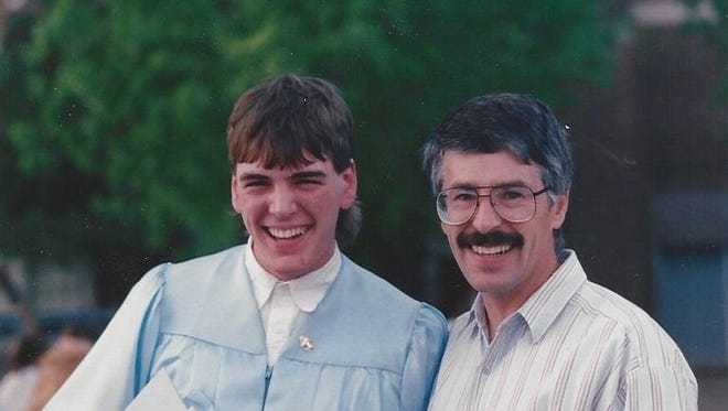 Brian and Don Voegel in 1994.