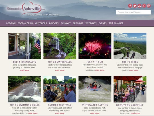 RomanticAsheville.com, a popular local travel and vacation website, recently got a redesign.
